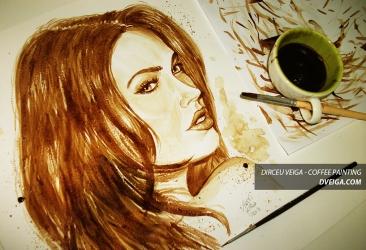 Megan Fox Coffee Art