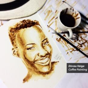 Lupita Nyong'o - Coffee Art