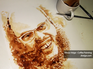 Ed Motta Coffee Art - Ilustrador Dirceu Veiga