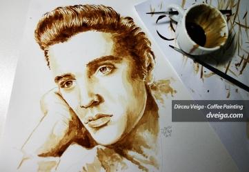 Elvis Presley Coffee Art