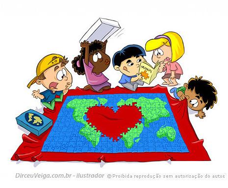 Ilustração Infantil Amor