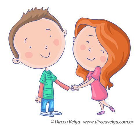 Ilustração Infantil - Menino e Menina