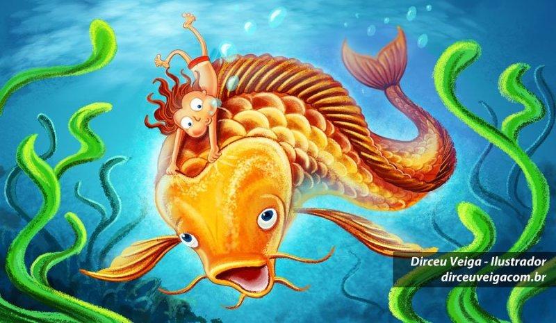 Ilustração Infantil Peixe