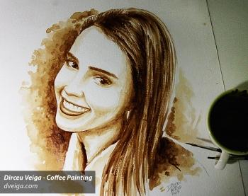 Jessica Alba Coffee Art