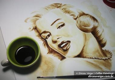 Marilyn Monroe Coffee Art