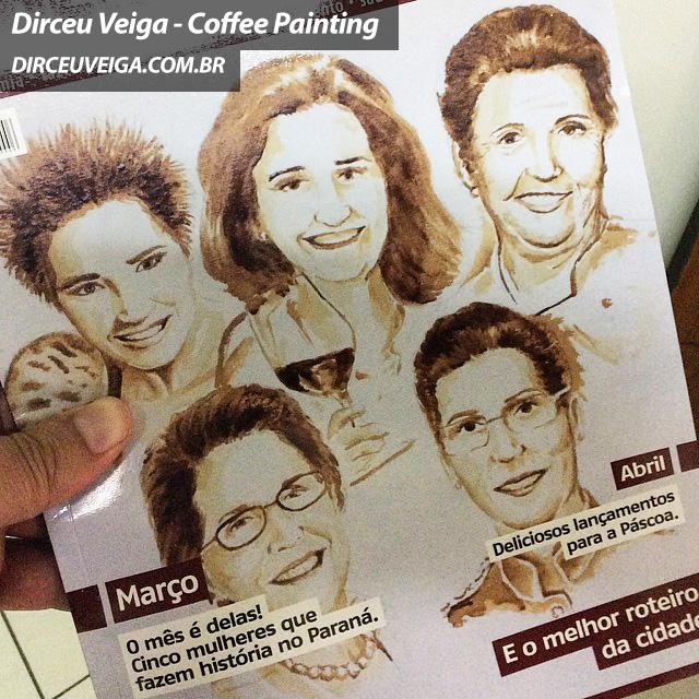 Pintura com Café oara Revista - Dirceu Veiga