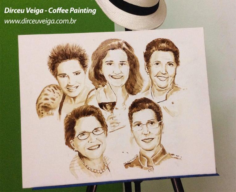 Pintura com Café - Dirceu Veiga