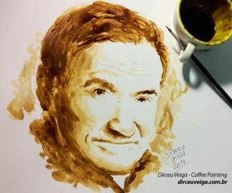 Robin Williams Pintura com Cafe